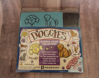 "1998 Inkadinkado ""Doggie"" Rubber Stamp Collection"