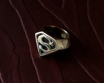 Super Hero Ring Brass