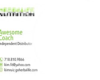 Independent Distributor Business Card