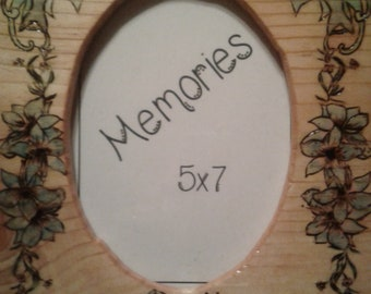 Dolphin Themed Handmade wooden picture frame With Color