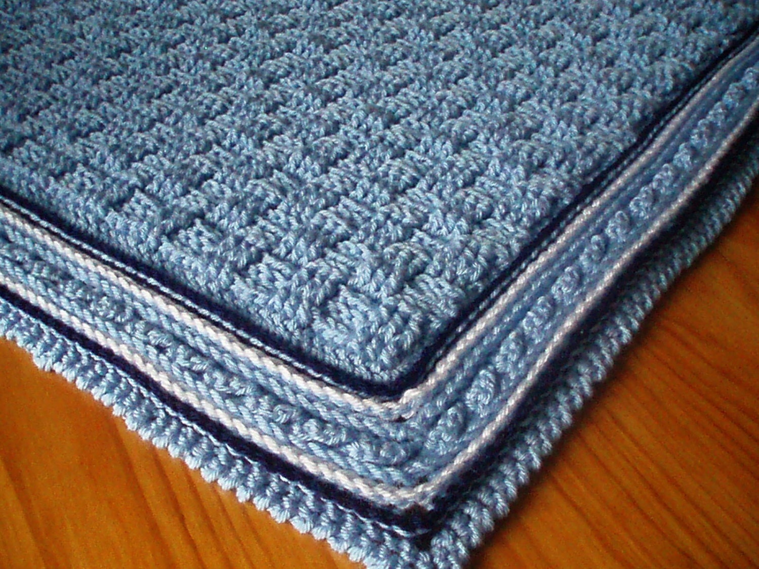 Crochet Pattern for Baby Blanket, Basket Weave Stitch Baby Afghan ...