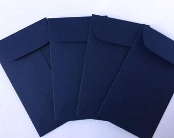 Wedding Navy Blue Envelopes - 100 Coin Envelope - Business Card Envelopes - Wedding Stationery - Bulk Envelopes - Mini Envelopes
