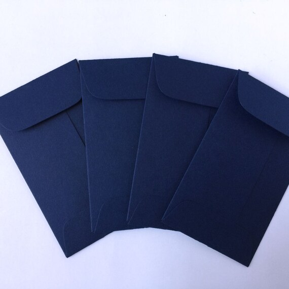 Wedding Navy Blue Envelopes 100 Coin Envelope Business Card