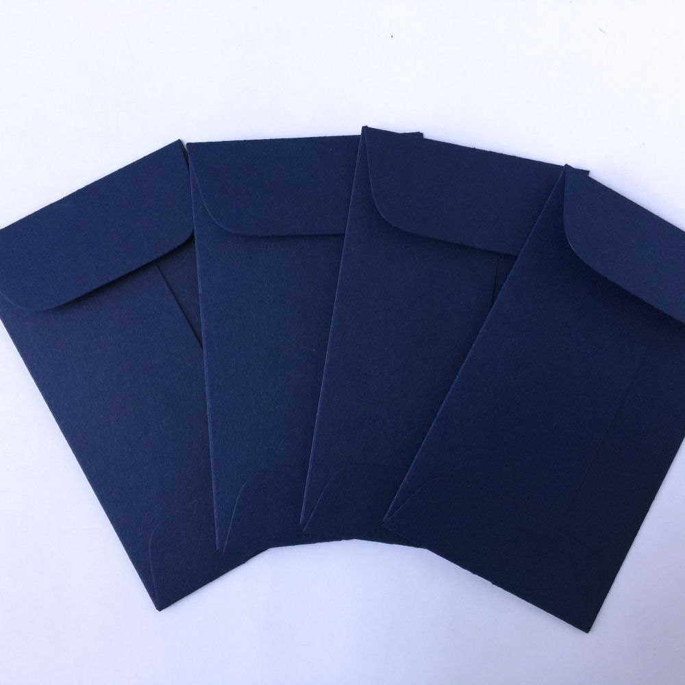 Wedding Navy Blue Envelopes 100 Coin Envelope Business