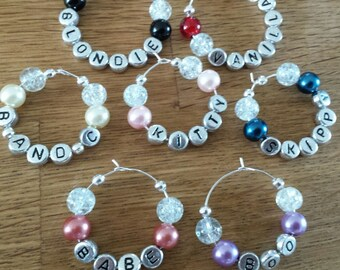 Wine Glass Charms, Personlised Wine Charms, Hen Night Favours, Girl's Night Out, Gifts For Her