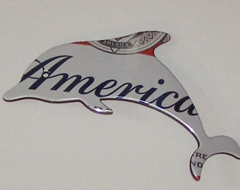 Dolphin Magnet - Budweiser America Beer Can