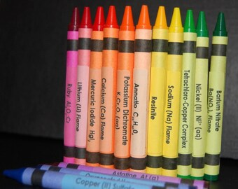 Chemistry Crayon Labels - set of 120 SALE 25% OFF
