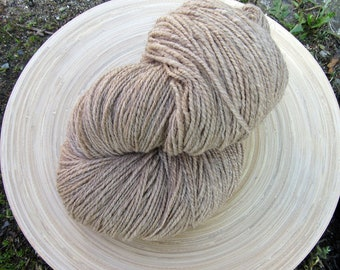 Handspun yarn - naturally dyed superfine merino  - 2 ply - Giant skein - 150 grams 510 yards