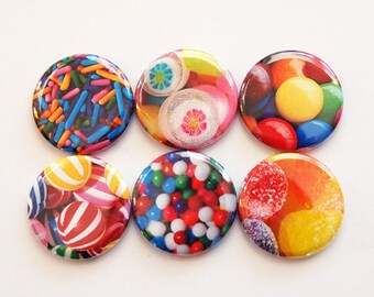 Candy Magnets, Magnets, button magnets, Kitchen Magnets, Locker Magnets, Food Magnets, magnet set, Candy, bright colors (3453)