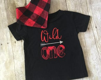 Red and black plaid shirt/ buffalo plaid/birthday shirt/little boy shirt/ready to ship