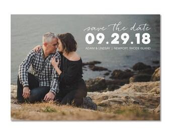 "Horizontal Photo Save the Date - 5""x7"" Digital File"