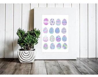Easter Printable - Easter Print - Easter Egg Cliaprt - Easter Printables - Easter Decorations - Easter Decor - Easter Card Clipart - Clipart