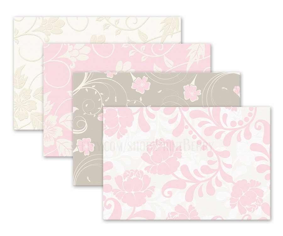 Floral envelopes 4x6 Envelopes Printable envelope template pastel ...