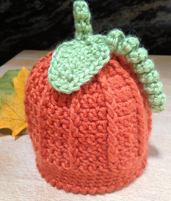 Kürbis Baby Mütze Kürbis Baby Hut häkeln Herbst Baby Mütze