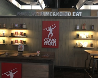 Trade Show Rustic custom portable wall - display for shop or booth - Two Color