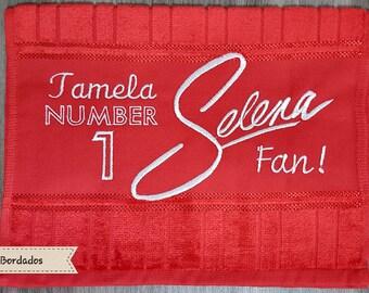 Selena Quintanilla Personalised Hand Towel and Facecloths, ANY NAME