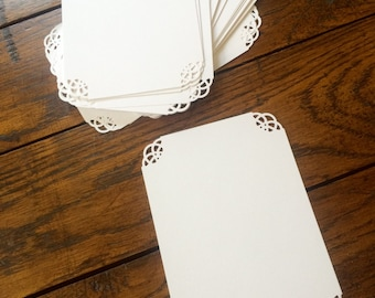 Lace detail border cardstock