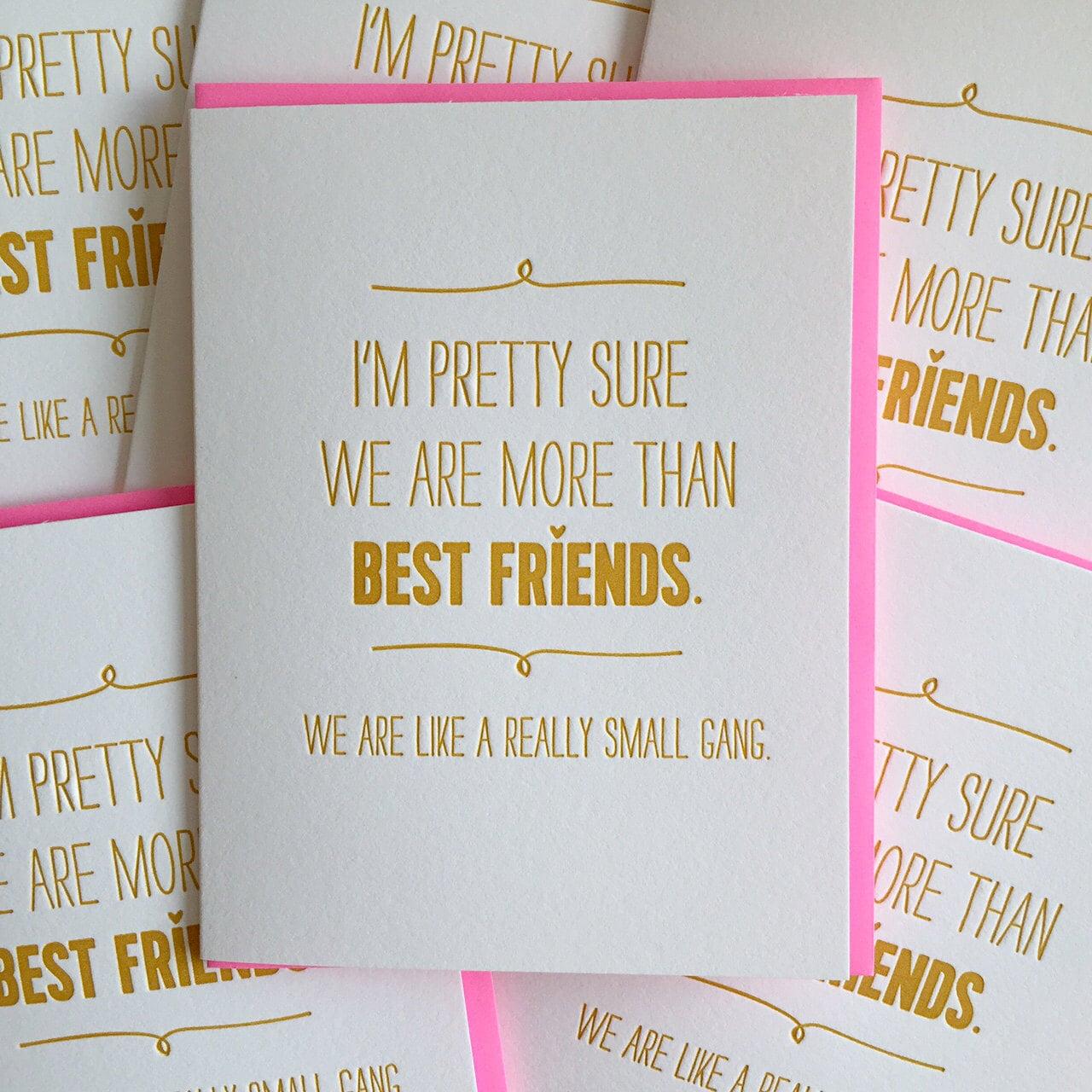Best Friend Card Best Friend Birthday Card We are like a