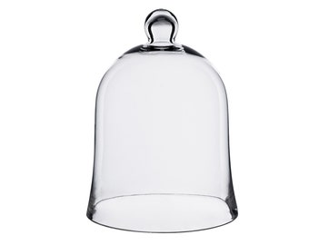 """Glass Bell Cloche Jar Dome with Knob. H-""""12"""", Interior Height - 9.5"""""""