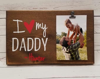 I Love My Grandpa Picture Frame Gift Gift For Papa Pepaw