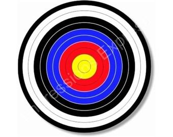 Archery Target Round Mousepad
