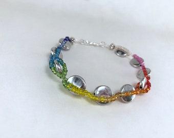 Woven Rainbow Gradient Bracelet