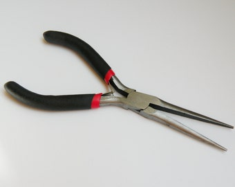 Long Chain Nose Pliers high carbon steel Jewelry Making Economy Tools P022Y
