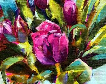 original tulip painting | tulip art | home decor | floral home decor | floral art | floral decor | tulip painting | wall art | flower art