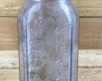 Price-Booker MFG. Co. San Antonio, TX Vintage bottle