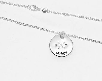 Cross Country Runner Coach - XC Coach -  .925 Sterling Silver Necklace