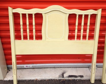 Vintage Henry Link French Provinvial Twin Headboard (2 available)