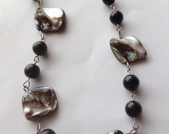 Cloudy Beach Day Gothic Mermaid Shell Necklace