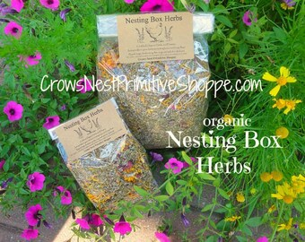 Certified Organic Chicken Coop Nesting Herbal Blend to Repel Bugs and Insects, Freshen Nesting Box Scent and Relax Chickens FREE SHIPPING