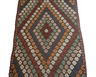 5'6''x8'1'' Small Kilim Rug , Handmade Vintage Kilim DISCOUNTED