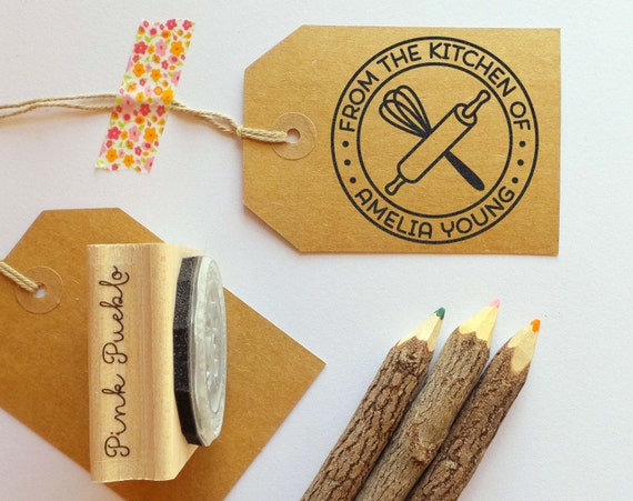 Personalized Baking And Cooking Rubber Stamp From The Kitchen