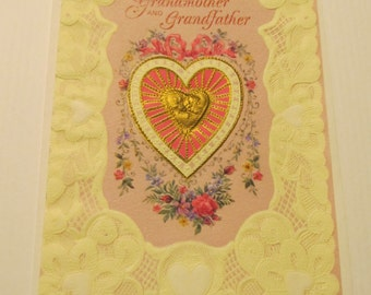 Grandmother and Grandfather Greeting Card, FREE SHIPPING