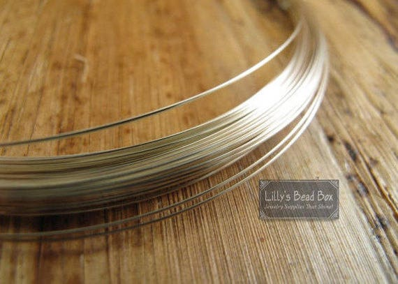 20 Gauge Wire, Sterling Silver FILLED Wire,  6 Feet of Round, Half Hard Wire for Wire Wrapping, Supplies