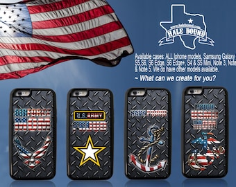 CUSTOM PHOTO PHONE Case - Military, Army, Navy, Airforce, Marines Personalized cell phone case, Iphone 6a Plus, Samsung Galaxy Note 5