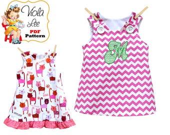 Girls Summer Dress Pattern, Girl's Dress Pattern, pdf Dress Pattern, Aline Dress Pattern, Toddler Dress Pattern, Infant Dress Pattern Joleen