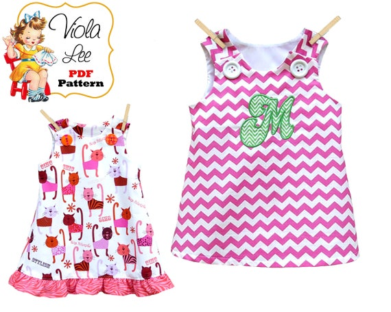 Girls A Line Dress Sewing Pattern Baby Dress Pattern pdf.