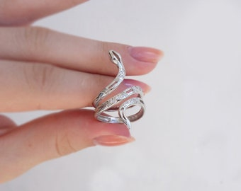 Snake ring, 925 sterling silver, unique silver ring, ring for gift, adjustable ring, handmade ring, silver ring, boho ring, beautiful ring