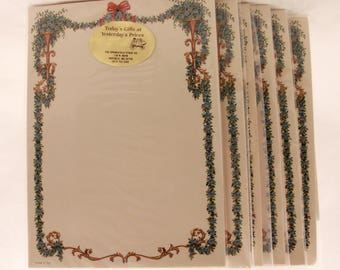 "New/Old Stock! 6 Packages of  ""Blue Floral"" Stationery with Matching Envelopes. 8 Sheets and Envelopes in Each."