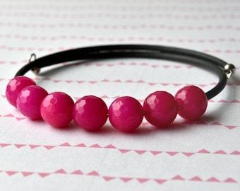 Bead Bracelet - Beaded Bracelet - Gemstone Bracelet - Gift for Her - Pink Quartzite - Quartz Bracelet - Stone Bracelet - Gift under 15