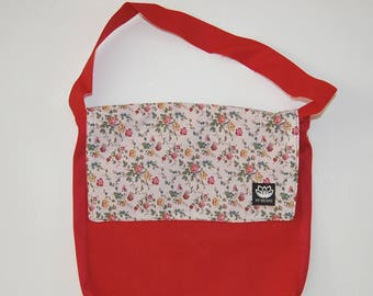 Red kids Messenger bag - Liberty print