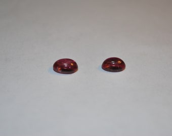 6.0 x 8.0 (1.90cts) Medium/Dark Pink Oval Natural Tourmaline Cab