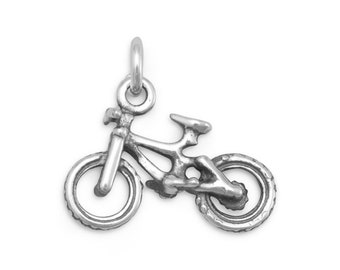 Bicycle Charm 925 Sterling Silver Pendant bike sport