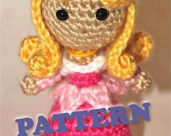 PATTERN Instant Download Aurora Sleeping Beauty Princess Crochet Doll Amigurumi Disney Princess