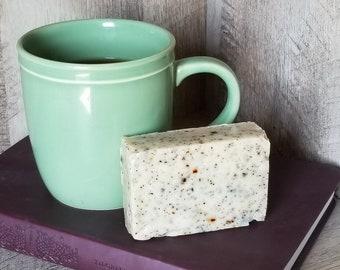 Coffee Walnut Scrub Soap, Handmade Soap, Cold Process Soap, Natural Soap