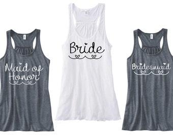 6 Wedding Tank Tops / Bridal Tank Top / Bridesmaid Tank Top / Maid of Honor Tank Top / Bridesmaid TankTop / Maid of Honor Shirt / Bride Tank