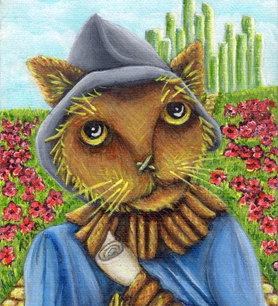 Scarecrow Cat 8x10 Fine Art Print